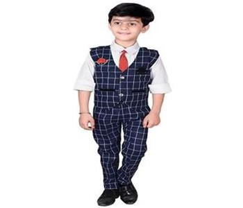 Boys Blended waistcoat Shirt Tie With Trouser Set