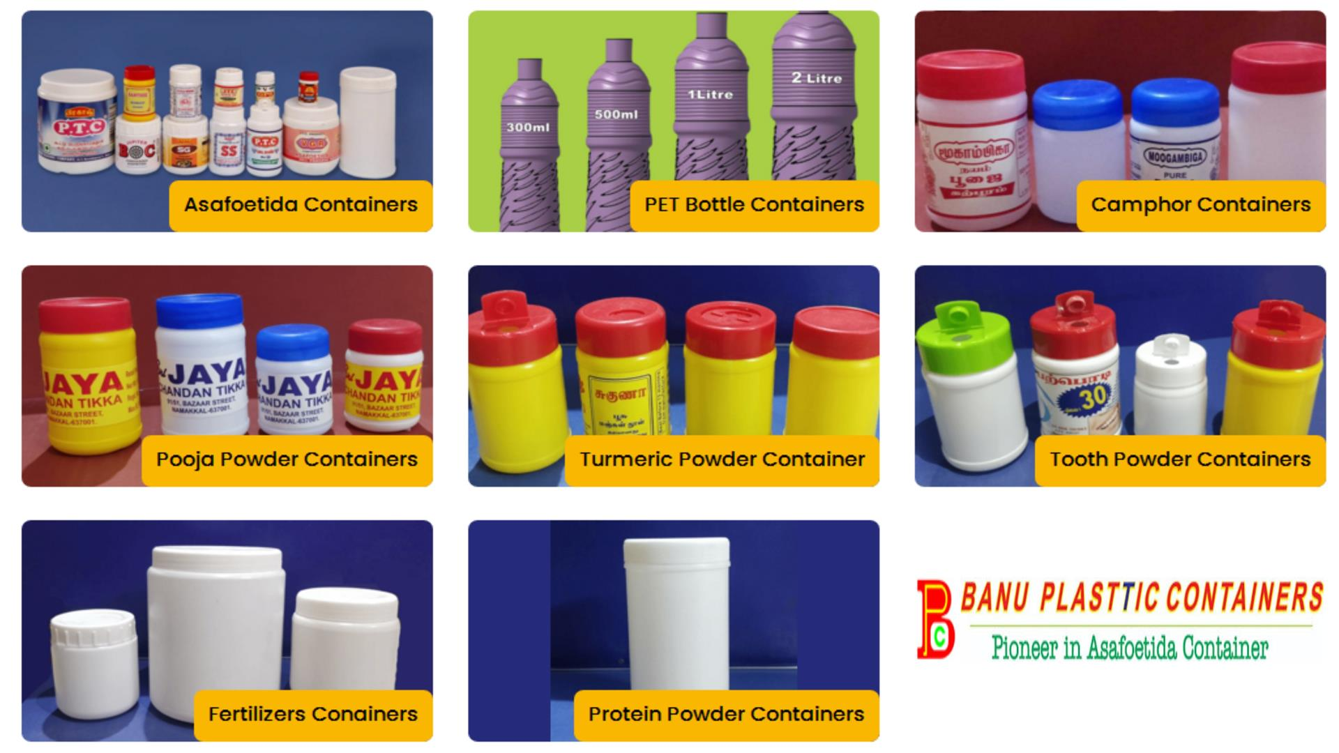 Banu Plastic Containers